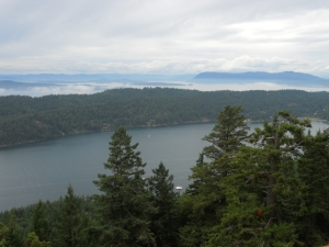 A view from Mt. Norman west toward Salt Spring and Vancouver Islands
